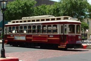 The streetcar, which will be repainted maroon and white prior to installation in Brownwood.