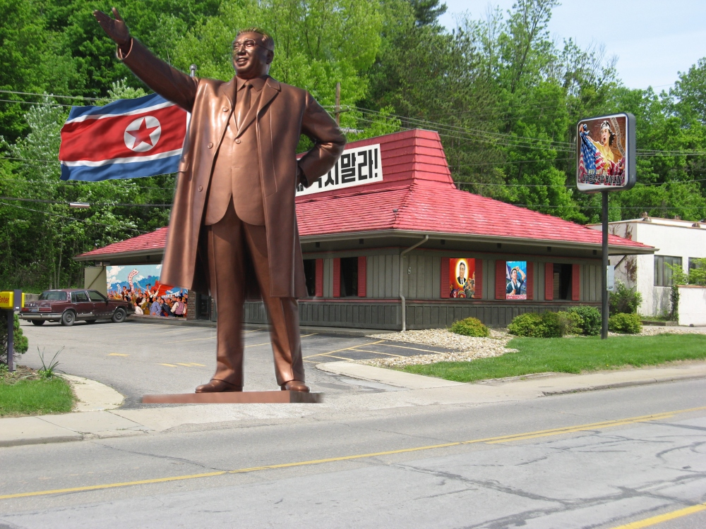The Pizza Hut sure looks ready for campaign season!